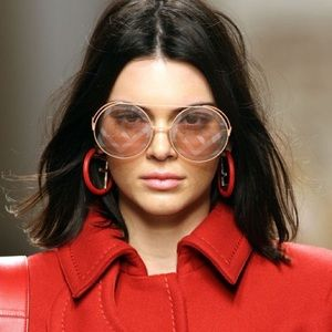 Fendi runaway sunglasses in baby pink